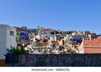 Guanajuato, Mexico-January 9, 2017: Guanajuato City view