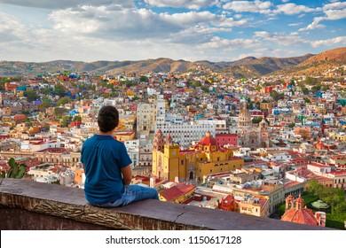 Guanajuato, malerische Stadt mit Blick auf Pipila
