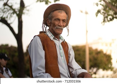 Guanambi, Bahia, Brazil - September 7, 2017: Civic Parade September 7, Indenpendence of Brazil, Cowboy, Northeast figure.