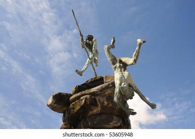 Guanche Monument in Las Palmas de Gran Canaria, Spain