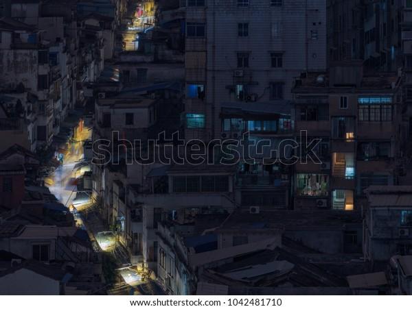 Guangzhou Arcade Night Scene