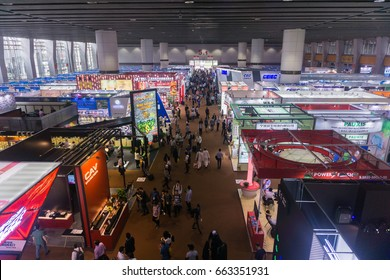 GUANGZHOU, CHINA - 16 April 2017 : The view at China Import and Export Fair(Canton Fair Complex) in Guangzhou China. It is the largest trade fair in Guangzhou.