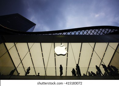GUANGZHOU, CHINA - APRIL 28. 2016:Apple Store in Guangzhou, Guangdong province, China on April 28. 2016.