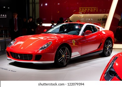 GUANGZHOU, CHINA - DEC 1:Ferrari 599GTB car on display at the 10th China(Guangzhou) International Automobile Exhibition. on Dec 1, 2012 in Guangzhou China.