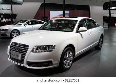 GUANGZHOU, CHINA - DEC 27: audi A6 car on display at the 8th China international automobile exhibition. on December 27, 2010 in Guangzhou China.