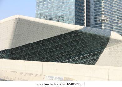 Guangzhou, China – December 25, 2017: Guangzhou Opera House, China  Guangzhou Opera House is a landmark building in the city center