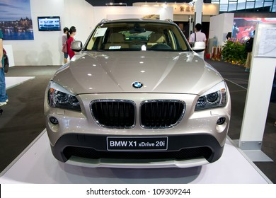 GUANGZHOU, CHINA - JUL 29: BMW X1 car on 2012 Guangzhou Imported Luxury Automobile Exhibition,on July 29, 2012 in Guangzhou China,This is a large international car exhibition