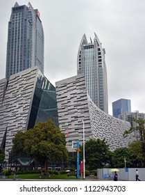 Guangzhou, China - June 06, 2018; Modern Architectural buildings in the centre of Guangzhou New Town, China.