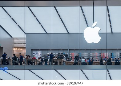 GUANGZHOU, CHINA - March 3. The Apple Store on March 3, 2016 in Guangzhou. This is first Apple Store in Guangzhou,Opening in January 28, 2016.