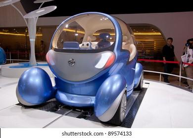 GUANGZHOU, CHINA - NOV 25: DONGFENG NISSAN electric vehicle on display at the 9th China(Guangzhou) International Automobile Exhibition. on November 25, 2011 in Guangzhou China.