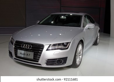 GUANGZHOU, CHINA - NOV 26: Audi A7 car on display at the 9th China international automobile exhibition on November 26, 2011 in Guangzhou China.