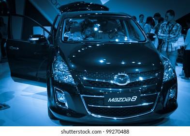 GUANGZHOU, CHINA - NOV 26:  Mazda 8 car on display at the 9th China international automobile exhibition. on November 26, 2011 in Guangzhou China.