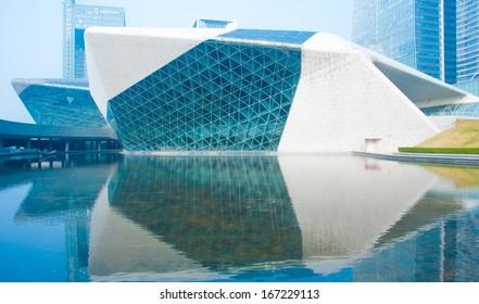 GUANGZHOU, CHINA - NOV.23: Guangzhou Opera House morning landscape on Nov. 23, 2013 in Guangzhou, China.