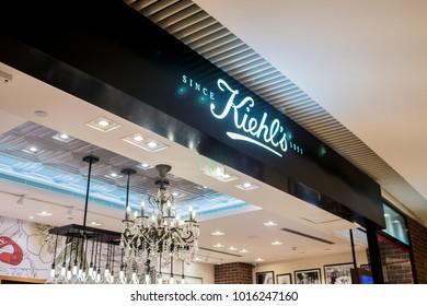 Guangzhou, China-January 20, 2018, Kiehls store in the shopping mall in Guangzhou
