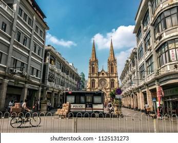 Guangzhou city in China
