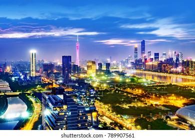 Guangzhou city night