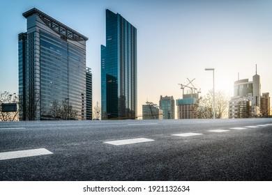 Guangzhou city roads and modern buildings