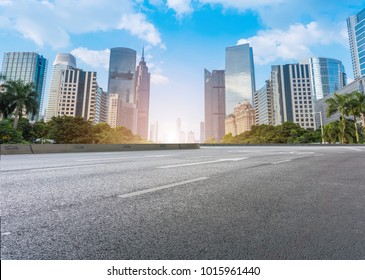 Guangzhou City Square Road and architectural landscape skyline