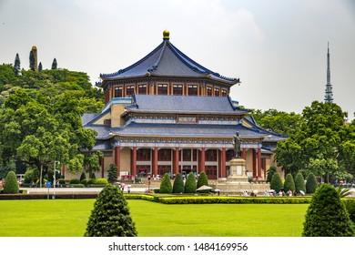 Guangzhou, Guangdong, China - August 10th 2019: Sun Yat-sen (Zhongshan ) Memorial Hall in Guangzhou City.