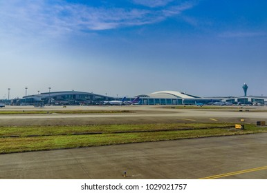 Guangzhou Guangdong/CHINA-FEB/13/2018 Guangzhou Baiyun International Airport