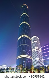 GUANGZHOU - NOV.10:Guangzhou International Finance Centre,IFC (437.51 m)  China's second high-rise. located at new city axis intersection ,completed in 2005. Guangzhou on NOV.10, 2011.