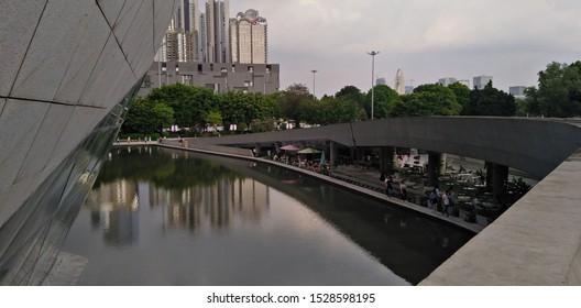 Guangzhou Opera House, Guangzhou, China. Designed by Zaha Hadid Architect. 6 Jul 2019