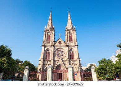 guangzhou shishi sacred heart cathedral in daytime