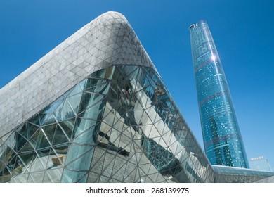 Guangzhou,China - Jan,14,2015:Guangzhou opera house in guangzhou china.