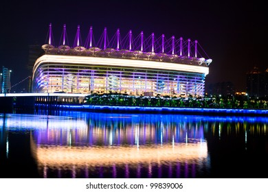 GUANGZHOU-OCT.7,2011.Asian Games stadium on Haixinsha Island on Oct. 7, 2011 in Guangzhou. The 16th Asian Games ceremony has been held at Nov. 12, 2010 in a stadium build for this purpose.