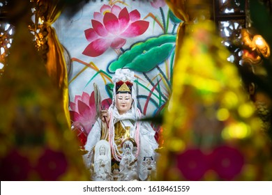 Guanyin, Goddess of Mercy for Chinese New Year Blessing and Celebration