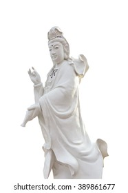 Guanyin on white background
