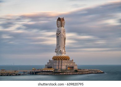 The Guanyin of the South Sea of Sanya in the south coast of China's island province  ( the fourth tallest statue in the world ) Sanya, China