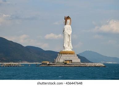 The Guanyin of the South Sea of Sanya, Hainan province, China.