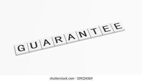 Guarantee word.