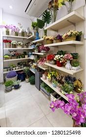 Guarapari / Espirito Santo / Brazil - 09/23/2018 - Shop for decoration - flower arrangements.