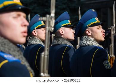 Guard of honor during a meeting of the President of Ukraine Poroshenko and Turkish President Recep Tayyip Erdogan