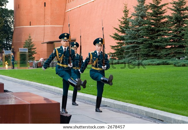 Guard of Honour. Kremlin Sentry, Moscow, Russia.