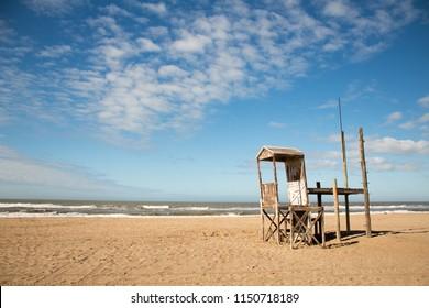 Guard house on the beach