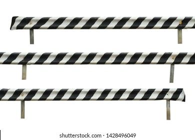 Guard rail steel barrier (with clipping path) isolated on white background