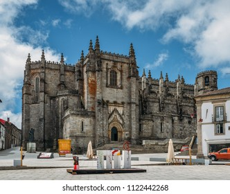 Guarda, Portugal - June 12th, 2018: Guarda, Portugal's medieval gothic Cathedral with Manueline influences. Work began in 1390 continuing until mid-16th century