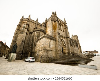 Guarda, Portugal - March 24th, 2018: Exterior of the Guarda cathedral
