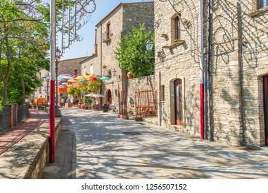 Guardia Perticara a small stone houses village in Basilicata