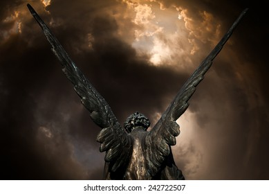 guardian angel and dark sky