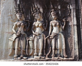 Guardian Angels at Angkor Wat.  Seam Ream, Combodia.