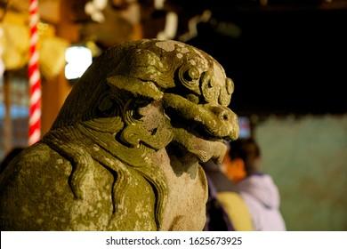 guardian dogs in Japan shrine