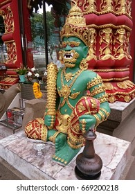 guardian of public Buddhist temple in Chiangrai, Thailand