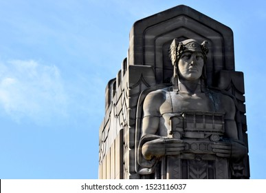 Guardian statues in Cleveland Ohio