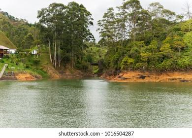 Guatape Dam Landscape in Antioquia - Colombia