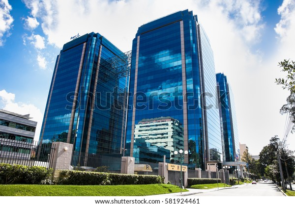GUATEMALA CITY, GUATEMALA-DEC 25, 2015: Government Buildings & Views Of The Capital Ahead Of National elections at The Euro Plaza business center on Dec 25, 2015 in Guatemala city, Guatemala.
