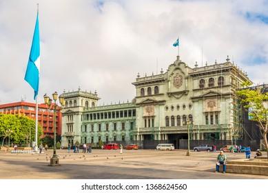 GUATEMALA CITY,GUATEMALA - MARCH 2,2019 - At the Place of Constitucion in Guatemala City. Guatemala city is capital of Guatemala.